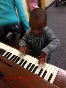 Caught Z playing the piano!