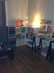 Semi-finished homeschool room. It's coming together!