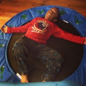 New trampoline = Pure fun and exhaustion